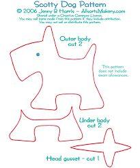 Image result for dog doorstop pattern free