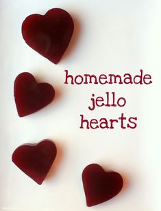 Homemade Jello Recipe - 100% fruit juice and heart-shaped for Valentine's Day. Great for kids!