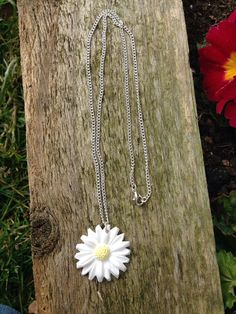 necklace daisy flower daisy necklace by BrowniesCRAFTBOX on Etsy