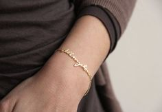 Hey, I found this really awesome Etsy listing at https://www.etsy.com/listing/179258352/14k-gold-signature-bracelet-love $298