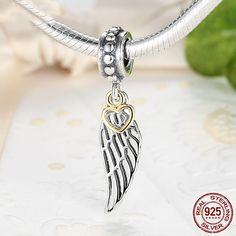 Ali d'angelo e Amore, Love & Guidance Charm Dangle 100% argento sterling 925 adatta a Pandora Charms, Pandora Beads, Bracelet S047 di OceanBijoux su Etsy