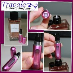 Rellena el Porta Perfume TRAVALO con tu fragancia favorita. Estarás lista para cualquier ocasión¡ Viaje, fiestas, trabajo, gimnasio o simplemente sentirte perfumada todo el día