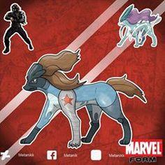 Oc Pokemon, Pokemon Fusion Art, Pokemon Funny, Pokemon Fan Art, Marvel Jokes, Marvel Vs, Winter Soldier, Pokemon Crossover, Creature Concept Art