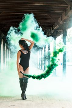 Green Trails - Green smoke trails Imagery By James Young Photography Smoke Bomb Photography, Boudoir Photography, Photography Photos, Creative Photography, Photography Courses, Photography Awards, Photography Backdrops, Professional Photography, Smoke Flares