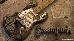 3D-Grafik Visualisierungen - Frank Reubsaet Steampunk Guitar, Music Instruments, Art, Art Background, Musical Instruments, Kunst, Performing Arts, Art Education Resources, Artworks