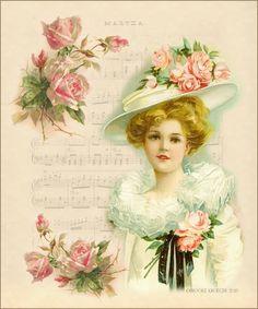 """Brooke Kroeger:: Artistic Inspirations: """"Martha"""" New Vintage Card"""