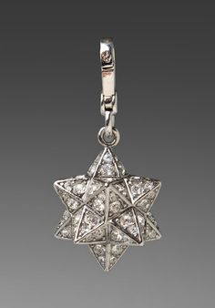 9069bf092 Juicy Couture 3D Pave Moroccan Star Silver Crystal Charm NIB! NWT! $58  YJRUO314