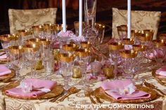 Pink & Gold. Perfect for a Sleeping Beauty Princess Party :)