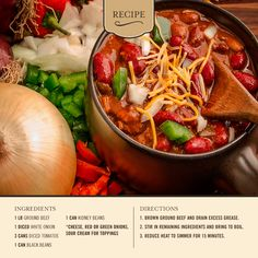 Celebrate National Chili Day with this hearty recipe!