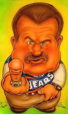 DITKA CARTOON Chicago Bears Quotes, Chicago Bears Tattoo, Chicago Bears Funny, Chicago Bears Man Cave, Chicago Bears Pictures, Chicago Bears T Shirts, Chicago Bears Super Bowl, Chicago Cubs Fans, Bears Football