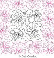 Digital Quilting Design Asian Elegance Butterfly 3 E2E by Deb Geissler.
