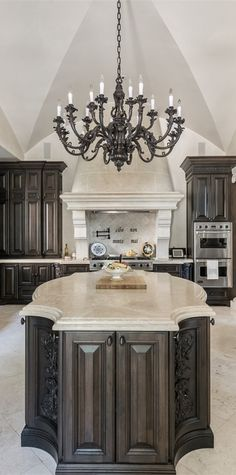 European/Old World style Kitchen with groin vault ceiling