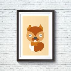 Stampe animali del bosco per bambini. Scoiattolo di iloveprint