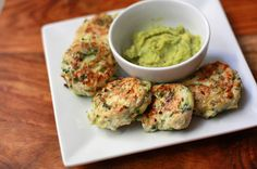 """These little """"meatballs"""" are super cute. Chicken and Zucchini Poppers can be made on the stove top or in the oven. What a fun appetizer."""