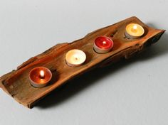 Rustic Wooden Candle Holder Natural wooden decor  Wood candle holders  Rustic office decor Wedding candels Wedding decor