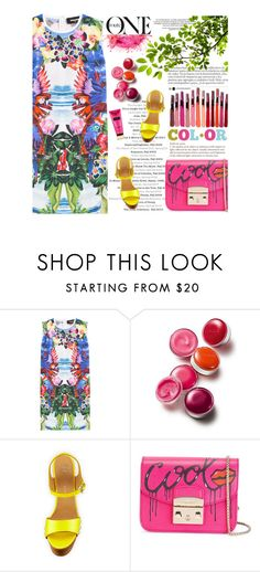 """""""Untitled #2133"""" by amimcqueen ❤ liked on Polyvore featuring Dsquared2, Clinique, Giuseppe Zanotti and Furla"""
