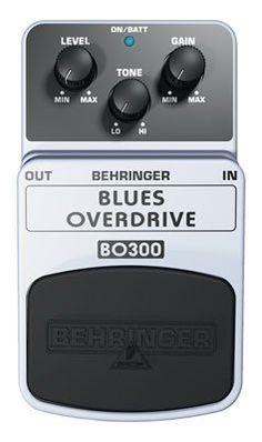 """Behringer BO300 Blues Overdrive Classic Overdrive Effects Pedal by Behringer. $24.99. They say you have to """"pay your dues to sing the blues,"""" but the Behringer Blues Overdrive BO300 makes that a thing of the past. You get all the classic blues tones, from sweet and sassy to overtly obnoxious, with just a simple twist of the dial - and BO300 club membership can be yours for a song! Classic Tone. Whether you seek the warm, vintage tube-amp howl that defined the electric blues, or ..."""