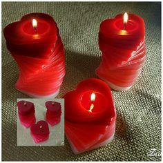 Velas Decorativas em espiral no formato de coração, aromatizadas, Acesse www.magiadaluz08.net