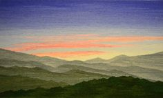 "Sarah Warren, Peaceful Dawn, 24 x 14"" TWiNE member Sarah Warren will be exhibiting her tapestries at the 82 Annual Craftsmen's Fair,..."