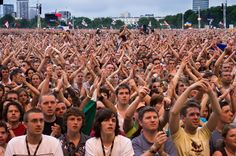 Festival crowd at a UK music festival Uk Music, Live Music, Concert Crowd, Moodboard, Festivals, Musicals, Have Fun, Songs, Spaces