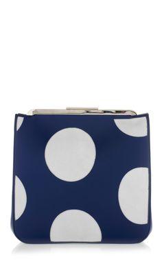 Shop Ultramarine And Beige Polka Dot Pochette by Marni - Moda Operandi