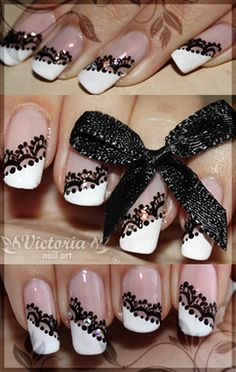 66 New Ideas For Nails Black Lace Art Tutorials Lace Nail Art, Lace Art, Lace Nails, Gold Nails, Peacock Nail Designs, Peacock Nails, Nail Art Designs, Fingernails Painted, Popular Nail Art