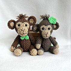 ZZtvori / Mini-opička Crochet Monkey Amigurumi in pocket size Crochet Monkey, Crochet Projects, Teddy Bear, Pocket, Toys, Mini, Amigurumi, Toy, Games