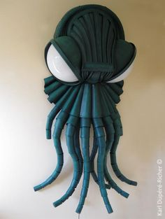 Steampunk Tendencies | Cthulhu Lamp by Karl Dupéré-Richer #Lamp #Design #Sculpture #Cthulhu #Tentacles