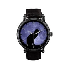 Black Cat Blue Moon Watch by #bigspl