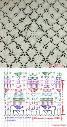 stranamam.ru Crochet Square Blanket, C2c Crochet, Crochet Squares, Crochet Afgans, Crochet Books, Crochet Motifs, Crochet Diagram, Crochet Shawl, Love Crochet