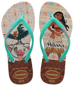 Havaianas Slim Kids Disney Moana Pua Pig Rooster Rubber Flip Flops all Sizes Kids Sandals, Cute Sandals, Moana Shoes, Havianas Flip Flops, Boys Flip Flops, Halloween Shoes, Flipflops, Rubber Flip Flops, Ciabatta