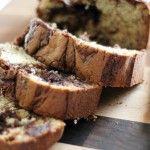 Nutella Banana Bread via chef in training - Delish!