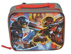 Marvel Avengers Captain America3 Civil War Boys Lunch Bag One size GrayMulti ** Click on the image for additional details.Note:It is affiliate link to Amazon.