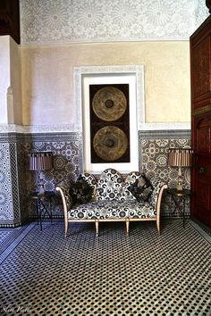 Morocco Handmade tiles can be colour coordianated and customized re. shape, texture, pattern, etc. by ceramic design studios