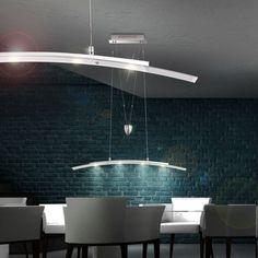 LED 20W DESIGN Hänge-Lampe Pendel-Leuchte Decken Beleuchtung Höhen-Verstellbar…
