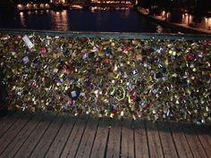 S. Love Locks Bridge Paris