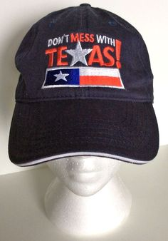 Dont Mess With Texas Hat Unisex Adjustable Cap with State Flag