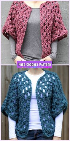 Crochet Granny Shrug Free Patterns for Ladies - Crochet Granny Shrug Free Pattern