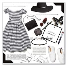 """""""Amusing"""" by ellejoyce ❤ liked on Polyvore featuring H&M, Chanel, Lipstick Queen, Bobbi Brown Cosmetics, Kjaer Weis and Tiffany & Co."""