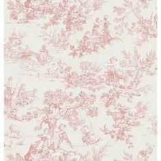 Brewster 56 sq. ft. Toile Wallpaper-149-45701 at The Home Depot   maybe but a little over $50 for around 50 sq ft
