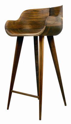 walnut counter stool by LiveLoveLaughMyLife