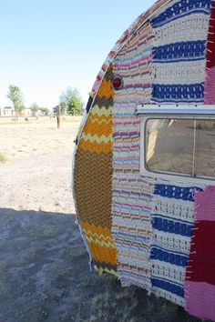 Sometimes, I wish I lived in an Airstream, homemade curtains, lived just like a gypsy...