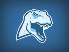 T Rex by Chris Meyer Game Logo Design, Sign Design, Branding Design, Pet Logo, Monogram Logo, Sports Decals, Sports Team Logos, Animal Logo, Logo Images
