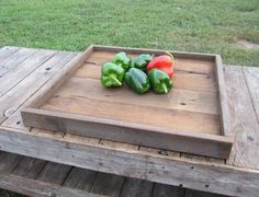 Reclaimed Barn Wood Coffee Table Tray - Large Branwood Serving Trays - Eco Friendly Rustic Home Decor ($150/3 boxes)