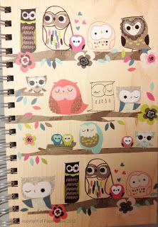 Jilly P graphics. I love these illustrations on this notebook, so cute.