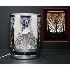 Touch Sensor Oval Shape Lamp - Silver Forest