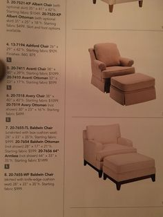 Ethan Allen Cream Avanti Chair In Our Living Room