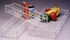 "Knape & Vogt BP4-W 4"" Side Mount Pantry Basket, White - Amazon.com"
