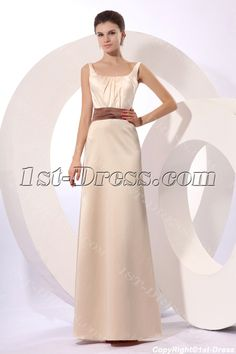 1st-dress.com Offers High Quality Champagne Modest Square Formal Evening Gown with Bow,Priced At Only US$145.00 (Free Shipping)