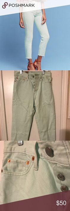 "NWT Anthro Levi Wedgie Icon High-Rise Jeans Sz 27 NWT Anthropologie Levi High Waist Jeans. These are slim fitting Jeans. Perfect to wear under a flowy dress or tunic.  27"" inseam. Ankle approximately 5.75"". Hips approx 17"" Anthropologie Jeans Ankle & Cropped"